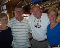 Madeline and Alan MacVicar, Sam and Mrs Lohmeier