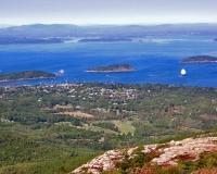 Bar Harbor, Maine on top of Cadillac Mountain