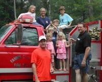 fannin fire truck & kids